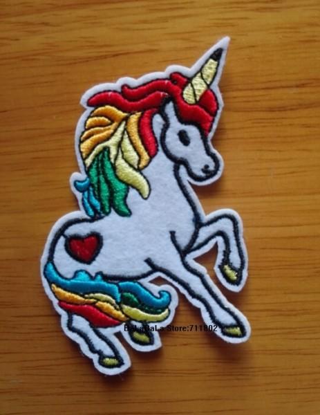 Unicorn Iron On Patches Cloth Patch Cartoon Animal Applique