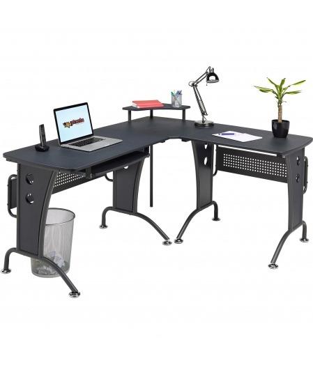 Unicorn Large Black Corner Computer Desk