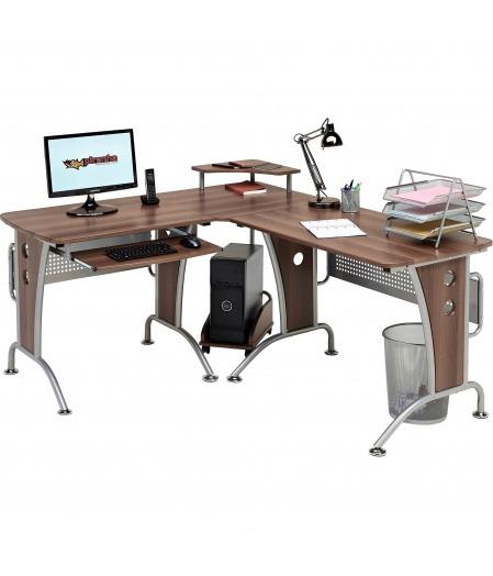 Unicorn Large Walnut Corner Desk