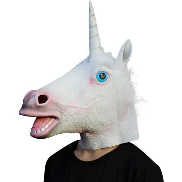 Unicorn Mask Horse Masks Overhead Latex Mask Hood Animal