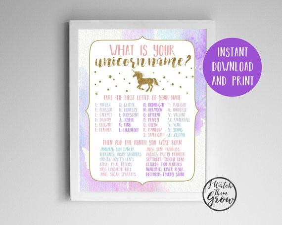 Unicorn Name Game