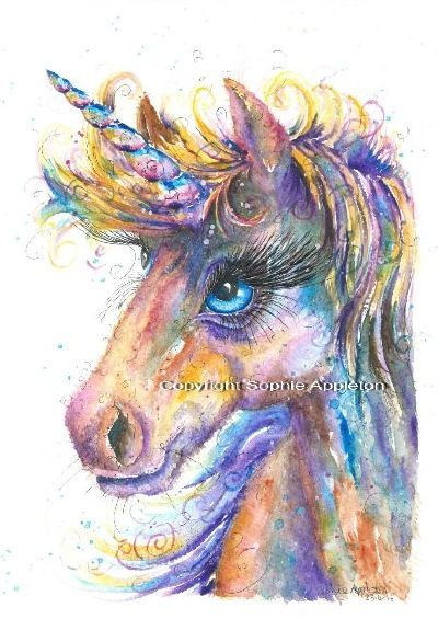 Unicorn Painting By Sophie Appleton £13 95 On The 'art 4 Sale