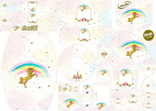 Unicorn Party  Free Printable Candy Bar Labels