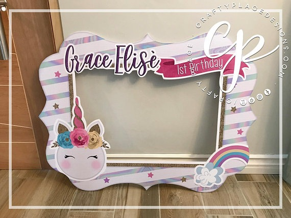 Unicorn Photo Booth Frame