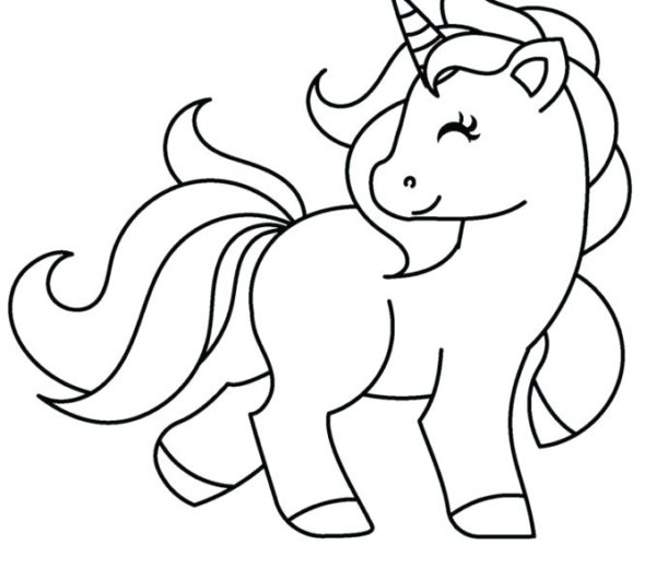 Unicorn Pictures To Color   Coloring Page