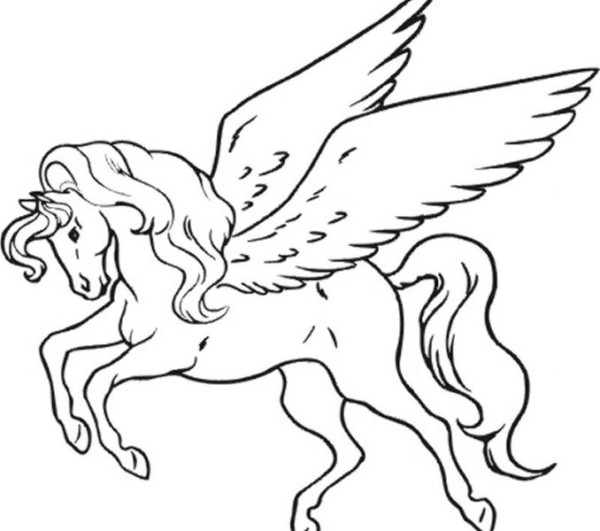 Unicorn Pictures To Color Of Unicorns To Colour In Unicorn