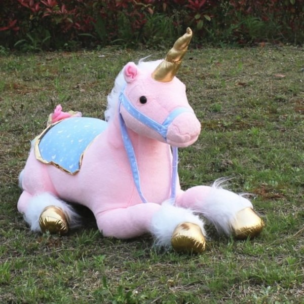 Unicorn Plush Toy Large Stuffed Lying Animals Pink Photography