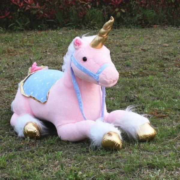 Unicorn Plush Toy Large Stuffed Lying Animals Pink Photography