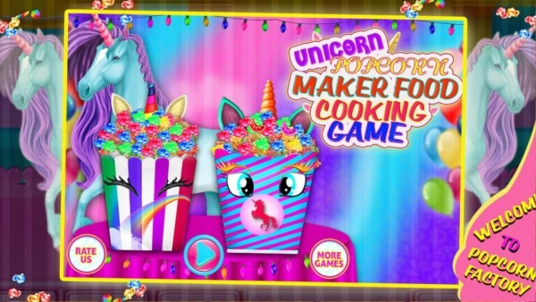 Unicorn Popcorn Food Maker Cooking Game For Android
