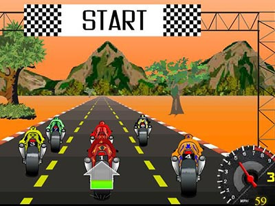Unicorn Rider, A Cool 3d Motorbike Race
