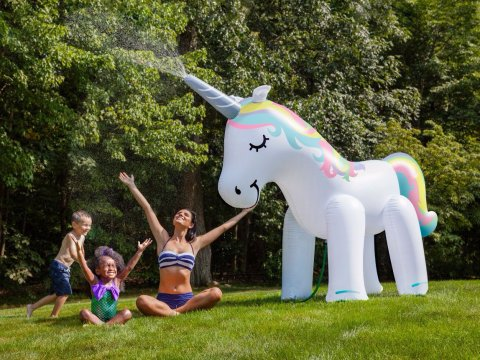 This Gigantic Inflatable Unicorn Sprinkler Is Over 7 Feet Tall