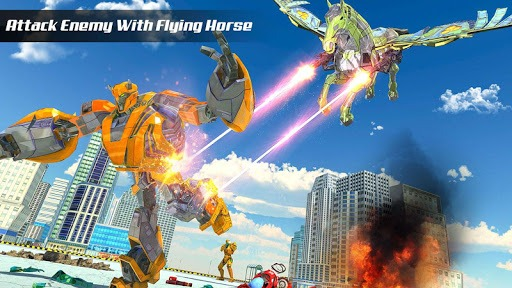 Us Army Transform Robot Unicorn Flying Horse Games 1 6 Apk