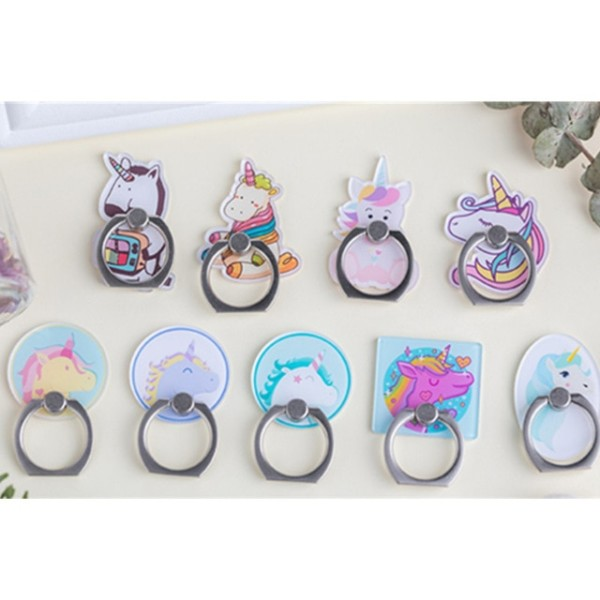 Uvr Unicorn Mobile Phone Stand Holder Unicorn Finger Ring Mobile