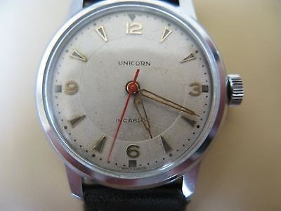 Vintage Swiss Made Unicorn Incabloc By Rolex 17 Jewels Hand