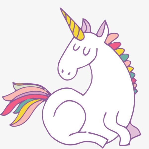 White Unicorn Vector Material, Material, White, Vector Material
