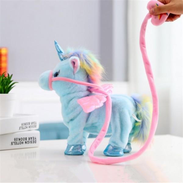 1pc Electric Walking Unicorn Plush Toy Stuffed Animal Toy