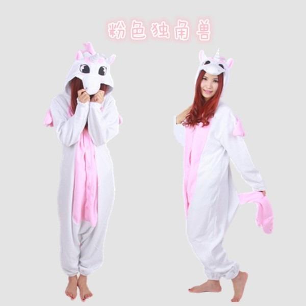 2016 Adult Women Men Polar Fleece Unicorn Onesies Pajamas Cosplay