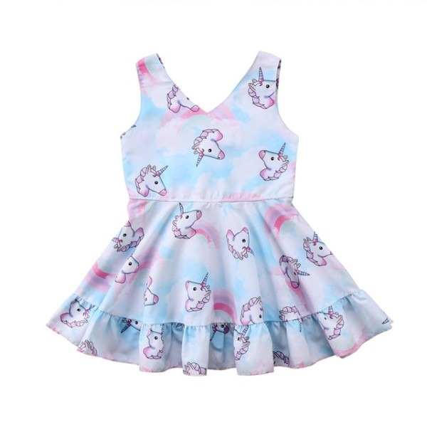 2018 Cute Unicorn Toddler Kids Baby Girl Clothes Kids Princess