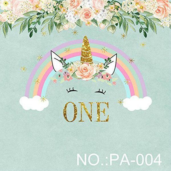 2019 5x7ft Vinyl Rainbow Unicorn First 1st Birthday Photography