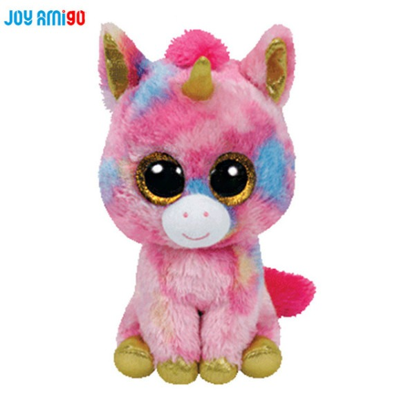 25cm 10inc Ty Beanie Boos Wishful Unicorn Plush Toy With Big Eyes