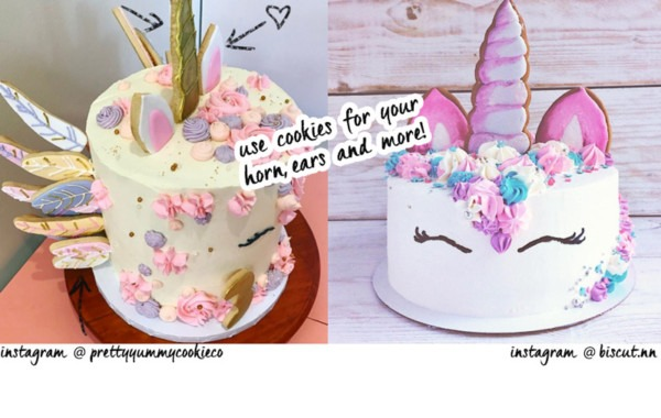 Unicorn Cake Tutorial Horn