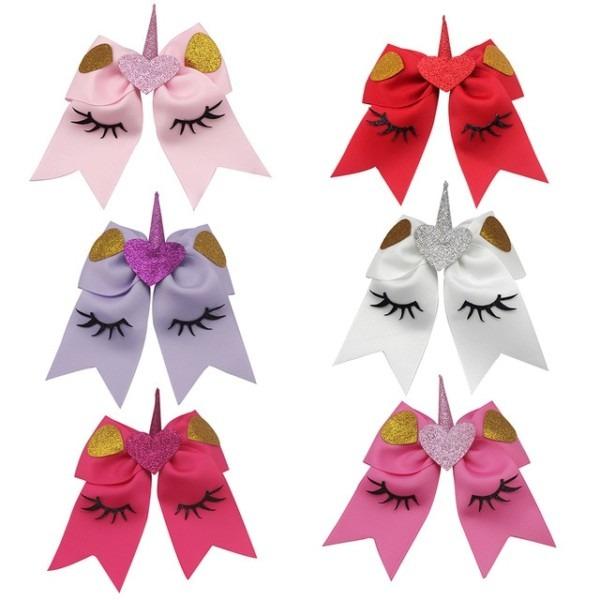 6pcs 6'' Valentine Cheer Bow Hairpins Hair Bands Love Ribbon