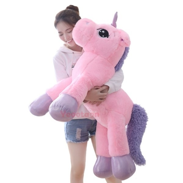 80cm 110cm Big Size Unicorn Plush Toys Stuffed Toy For Children