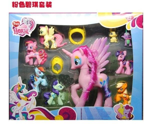 9 Piece Unicorn And Pony Play Set