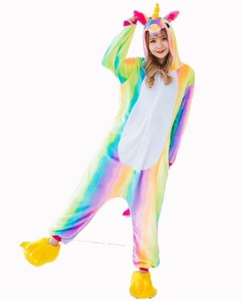 Aliexpress Com   Buy Rainbow Unicorn Onesie Pajamas Sets Adult
