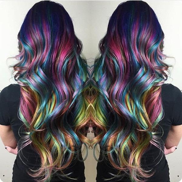 Amazing Rainbow Hair Color And Style By Christi Edier Hotonbeauty