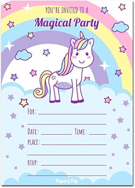 Amazon Com  30 Unicorn Birthday Invitations With Envelopes (30