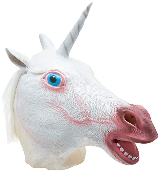 Amazon Com  Accoutrements Magical Unicorn Mask  Toys & Games