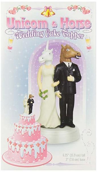 Amazon Com  Accoutrements Unicorn And Horse Wedding Cake Topper