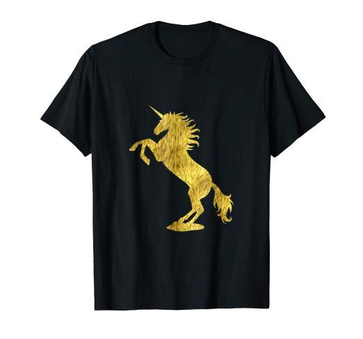 Amazon Com  Cute Unicorn Gold Funny Sparkle Unicorn T