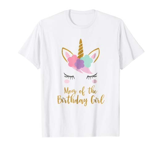 Amazon Com  Cute Unicorn Mom Shirt, Mom Of The Birthday Girl T
