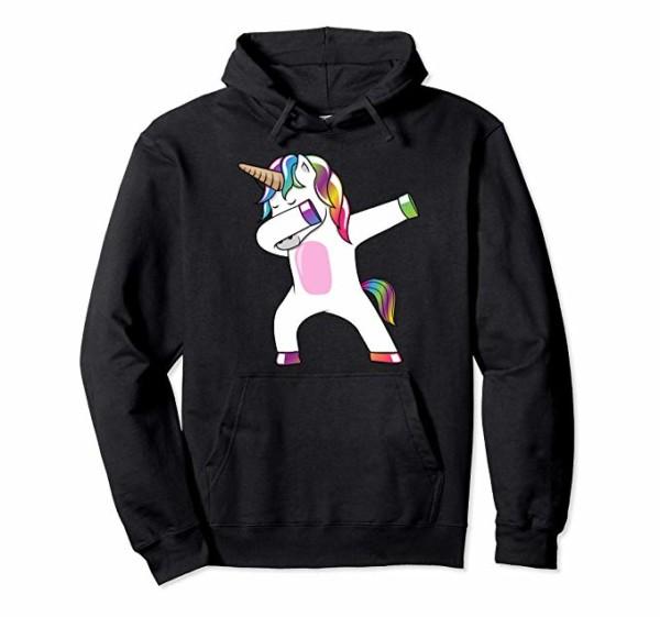 Amazon Com  Dabbing Unicorn Hoodie
