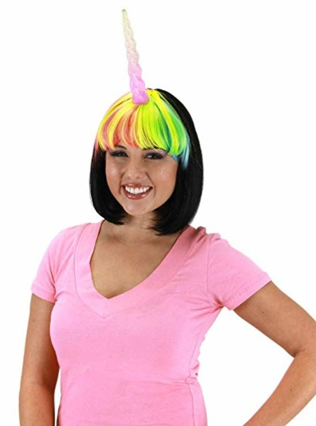 Amazon Com  Elope Light Up Multicolor Unicorn Costume Horn For