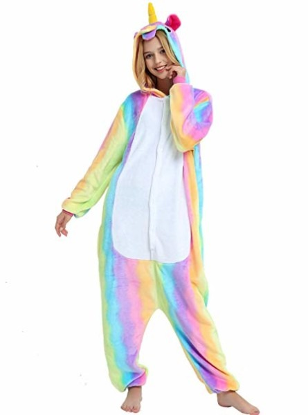 Amazon Com  Es Unico Pastel Rainbow Unicorn Onesie For Adult Women
