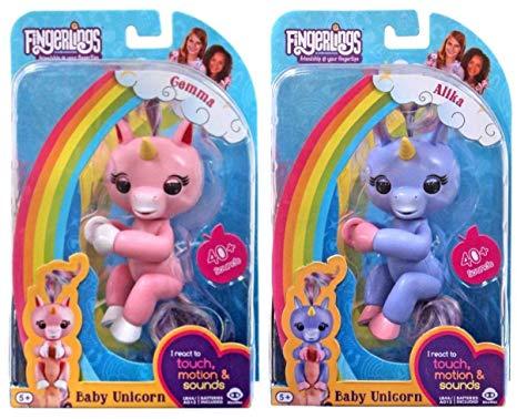Amazon Com  Fingerlings Unicorns Gemma And Alika By Wowwee Bundle