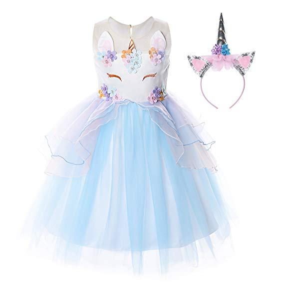 Amazon Com  Jerrisapparel Flower Girls Unicorn Costume Pageant