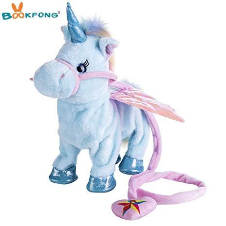 Amazon Com  Jewh Lovely Electric Walking Unicorn Plush Toy
