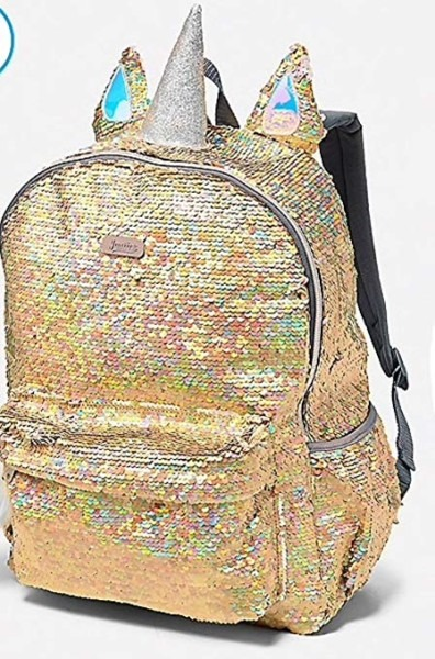 Amazon Com  Justice Sequin Unicorn Gold Bling Full Size Backpack