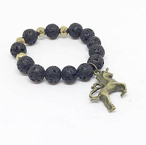 Amazon Com  Kid's Gold Unicorn Lava Rock Diffuser Bracelet