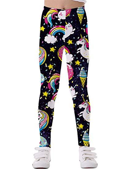 Amazon Com  Kidvovou Little Girls Unicorn Printing Pants Toddler