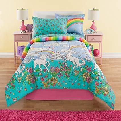 Amazon Com  Kidz Mix Unicorn Bed In A Bag, Twin, Multi  Home & Kitchen