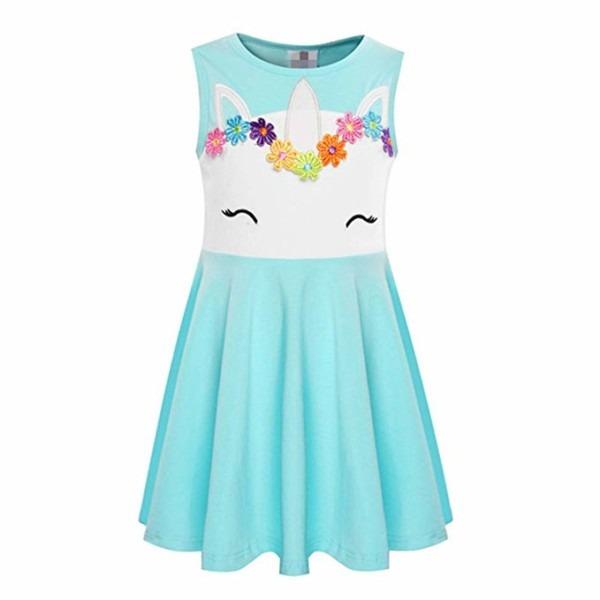 Amazon Com  Pajamasea Summer Sleeveless Cotton Girls Unicorn Dress