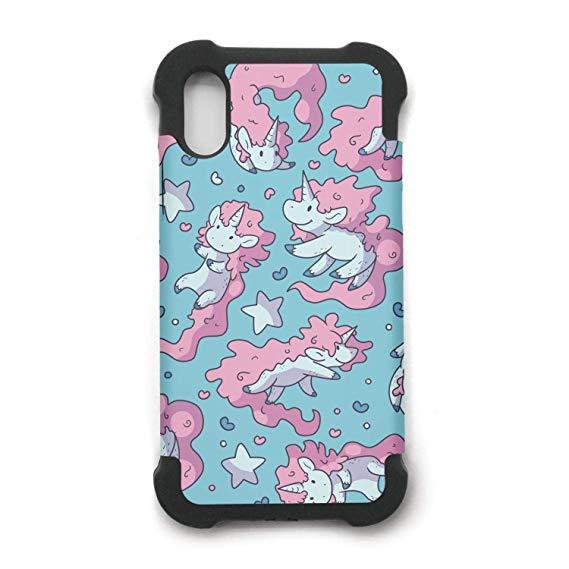 Amazon Com  Phone Case For Iphone X Rainbow Unicorn Wallpaper