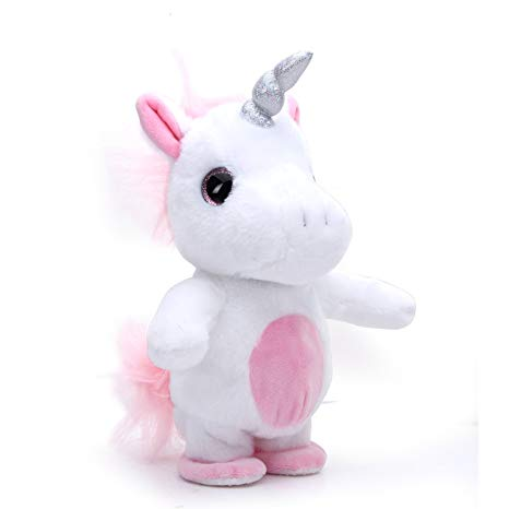 Amazon Com  Woodyotime Moving And Talking Unicorn Toys Repeats