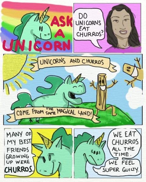 "Ask A Unicorn! ""do Unicorns Eat Churros """