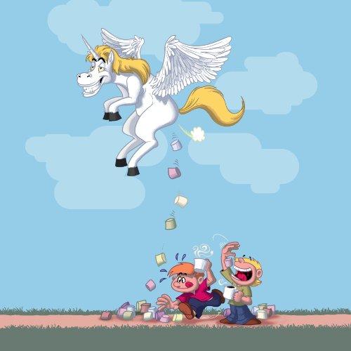 B&a  Pegacorn Marshmallows  Funny Unicorn Cartoon Pooping Candy